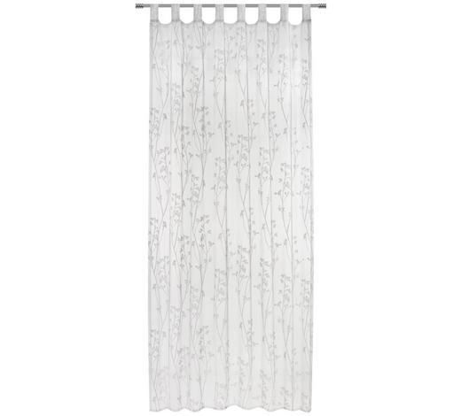 SCHLAUFENVORHANG transparent  - Weiß, Trend, Textil (140/245cm) - Boxxx