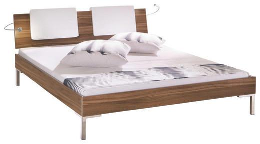 BETT 160/220 cm - Chromfarben/Dunkelbraun, Design, Textil/Metall (160/220cm) - Hasena