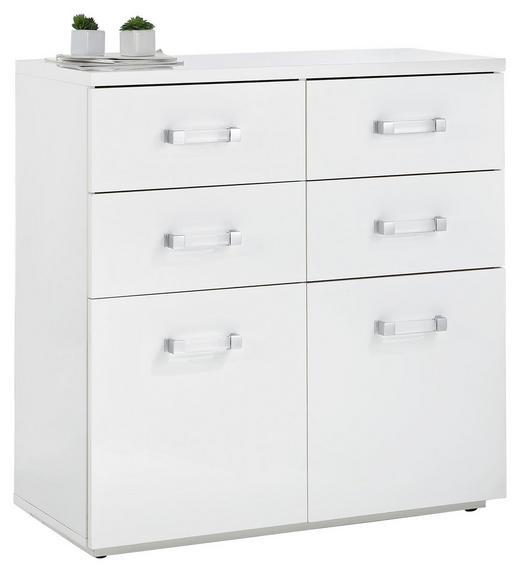 KOMMODE Weiß - Transparent/Schwarz, Design, Kunststoff (88/88,5/40cm) - Xora