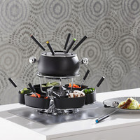 SADA NA FONDUE - černá/barvy nerez oceli, Basics, kov/keramika - Homeware