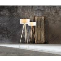 STOJACÍ LAMPA - barvy vlašských ořechů, Natur, kov/dřevo (50/136cm) - Novel
