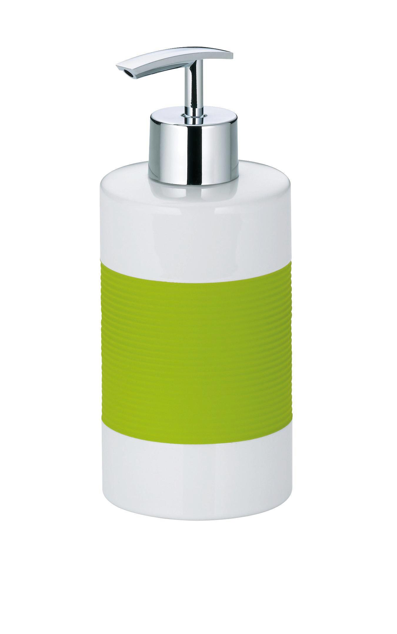 SEIFENSPENDER - Weiß/Grün, Basics, Kunststoff/Metall (7/17cm)