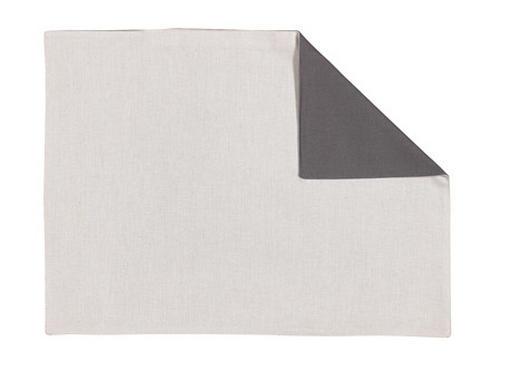 TISCHSET - Dunkelgrau/Hellgrau, Basics, Textil (35/46cm) - Linum