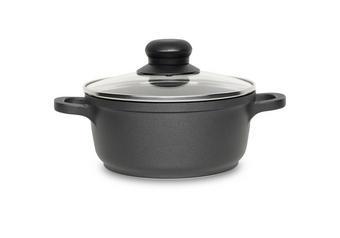 HRNEC - černá/čiré, Konvenční, kov/umělá hmota (16/7,5cm) - HOMEWARE