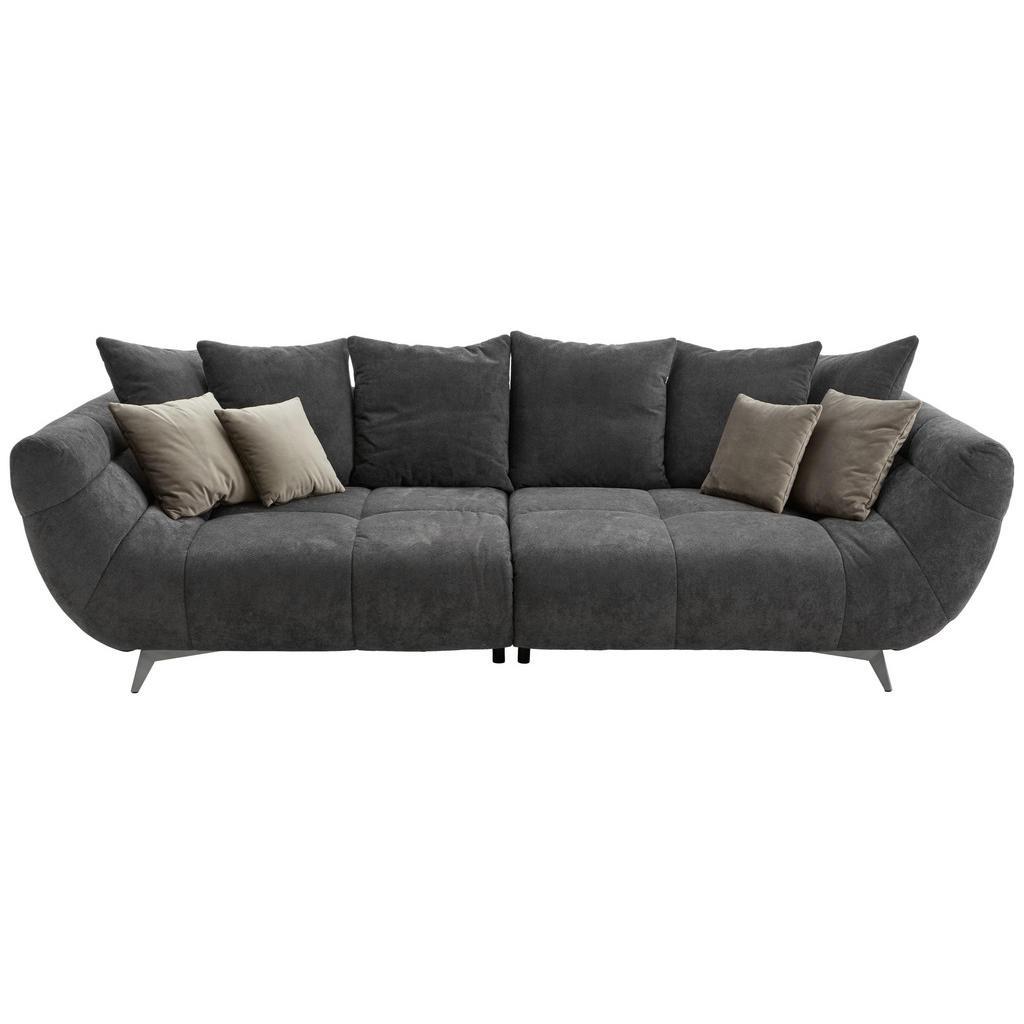 Image of Hom`in Megasofa in textil schwarz , Fellini II -Top- , 300x95x133 cm , gebürstet, matt,Webstoff,Mikrofaser , Stoffauswahl , 000647004301