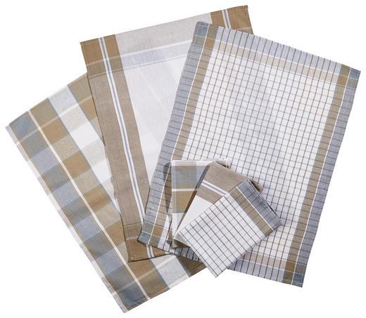 GESCHIRRTUCH-SET - Grau, KONVENTIONELL, Textil (50/70cm) - Boxxx