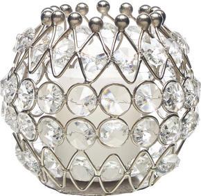 LJUSSTAKE - klar/silver, Trend, metall/glas (8/8cm) - Ambia Home