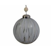 SET KROGLIC ZA BOŽIČNO JELKO - srebrna, Basics, steklo (59cm) - X-Mas