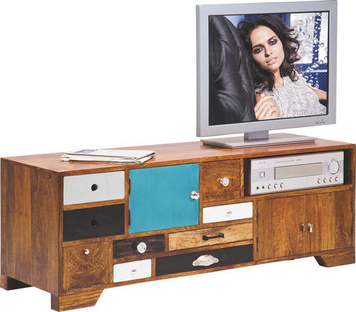 TV-ELEMENT Mangoholz massiv Multicolor - Multicolor, Design, Holz (125/45/40cm) - Kare-Design