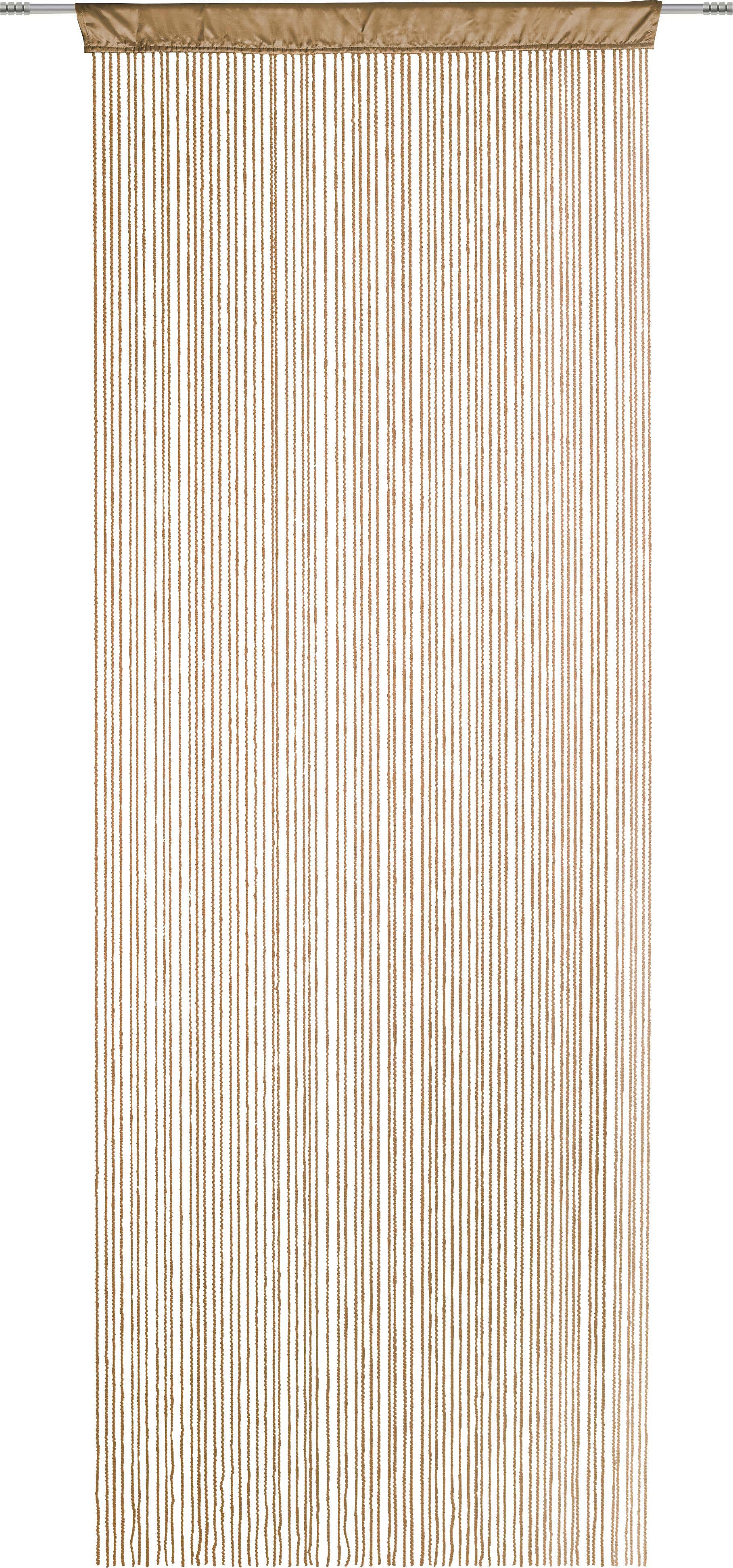 ŠPAGETI ZAVJESA - smeđa, Moderno, tekstil (90/245cm) - ESPOSA