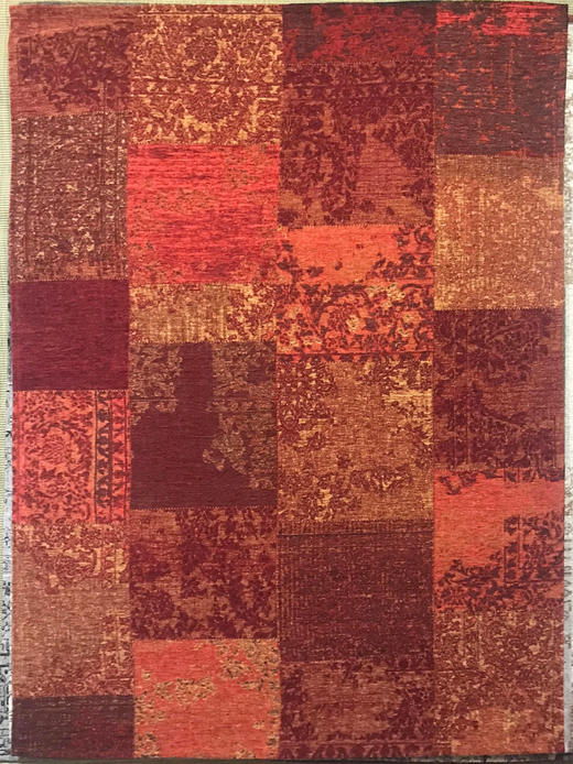 VINTAGE-TEPPICH  80/250 cm  Orange, Rot - Rot/Orange, Textil (80/250cm) - Novel