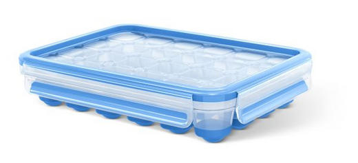 EISWÜRFELFORM - Blau/Transparent, Basics, Kunststoff (22,6/16,5/4,9cm) - Emsa