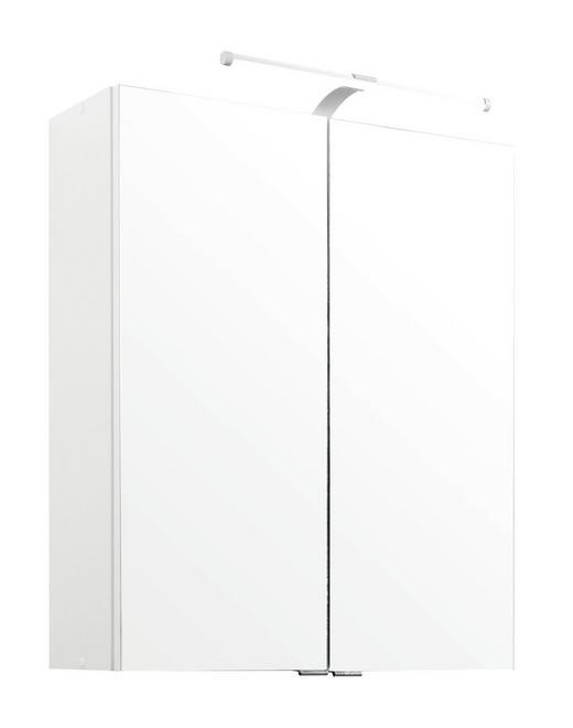SPIEGELSCHRANK Weiß - Chromfarben/Weiß, KONVENTIONELL, Glas/Holzwerkstoff (60/71/20cm) - Carryhome