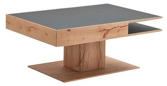 COUCHTISCH in Glas, Holz 105/46/75 cm - Anthrazit/Buchefarben, Natur, Glas/Holz (105/46/75cm) - Valnatura