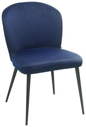 STOL - blå, Design, metall/textil (49,5/81,5/61,5cm)