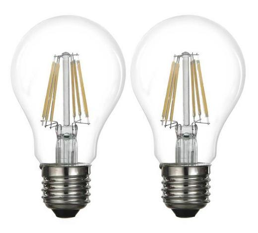 LED ŽÁROVKA - bílá, Basics, kov/sklo (5,9/10,3cm) - Boxxx