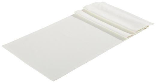TISCHLÄUFER Textil Webstoff Weiß 45/150 cm - Weiß, Basics, Textil (45/150cm) - Bio:Vio