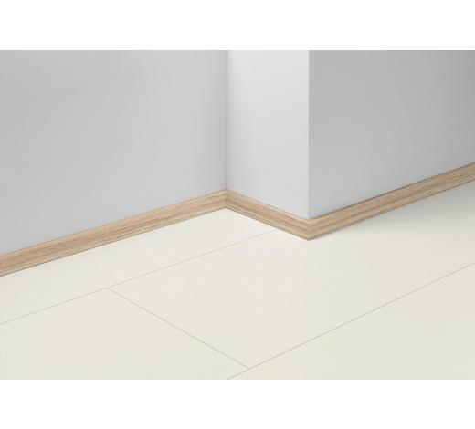 SOCKELLEISTE Weiß, Hellbraun - Hellbraun/Weiß, Basics, Holzwerkstoff (257/1,6/4cm) - Parador