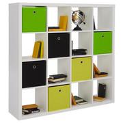 DĚLICÍ STĚNA, bílá - bílá, Design, kompozitní dřevo (147/147/38cm) - Carryhome