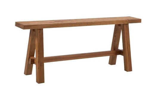 SITZBANK Wildeiche massiv Eichefarben - Eichefarben, Design, Holz (110/27/45cm) - Hasena