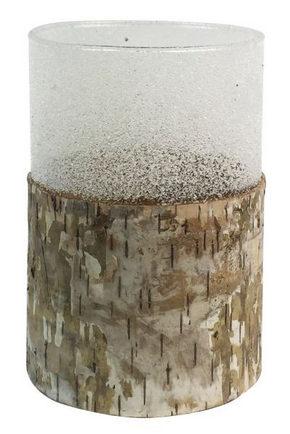 LJUSSTAKE - naturfärgad, Design, trä/glas (9,5/13,5cm) - Ambia Home