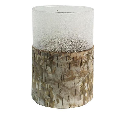 KERZENHALTER - Naturfarben, Design, Glas/Holz (9,5/13,5cm) - Ambia Home