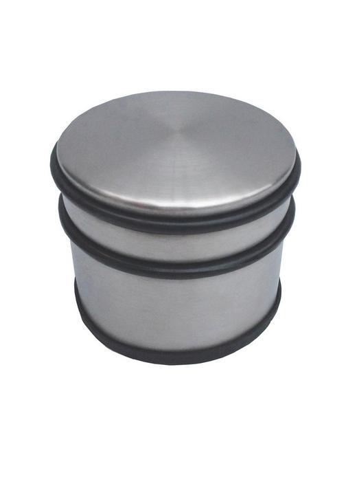 TÜRSTOPPER Kunststoff, Metall - Edelstahlfarben/Schwarz, KONVENTIONELL, Kunststoff/Metall (9/7,6/9cm) - X-Mas