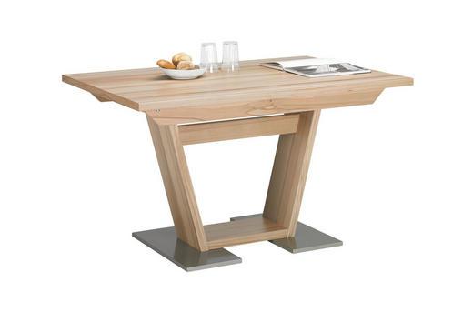 ESSTISCH in Holz 150/100/76 cm - Edelstahlfarben/Buchefarben, KONVENTIONELL, Holz (150/100/76cm)