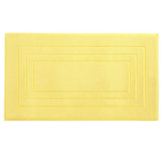 BADEMATTE  Gelb  60/100 cm - Gelb, Basics, Textil (60/100cm) - Vossen