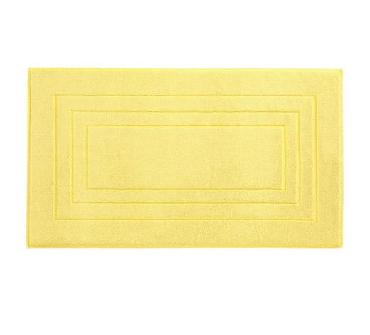 PŘEDLOŽKA KOUPELNOVÁ, 60/100 cm, žlutá - žlutá, Basics, textil (60/100cm) - Vossen