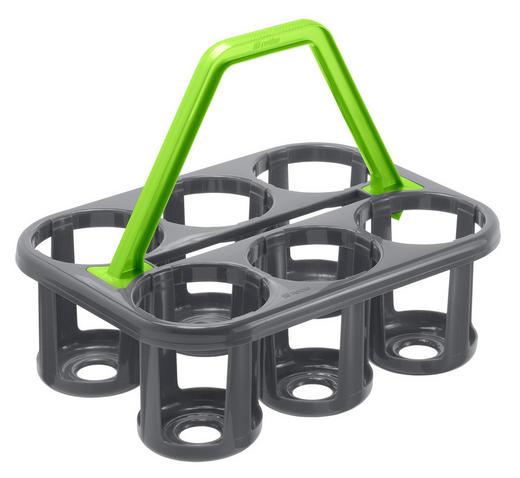 FLASCHENTRÄGER - Anthrazit, Basics, Kunststoff (35/26/27cm) - Rotho