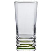 SKLENIČKA NA LONGDRINK - zelená/čiré, Konvenční, sklo (6,8/14cm) - Homeware