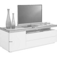 LOWBOARD Eiche Teilmassiv Lackiert, Matt Eichefarben, Weiß    Eichefarben/Weiß, Design, ...