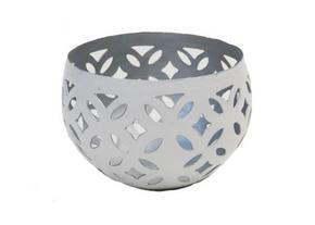 VÄRMELJUSHÅLLARE - vit/silver, Klassisk, metall (7/10cm) - Ambia Home