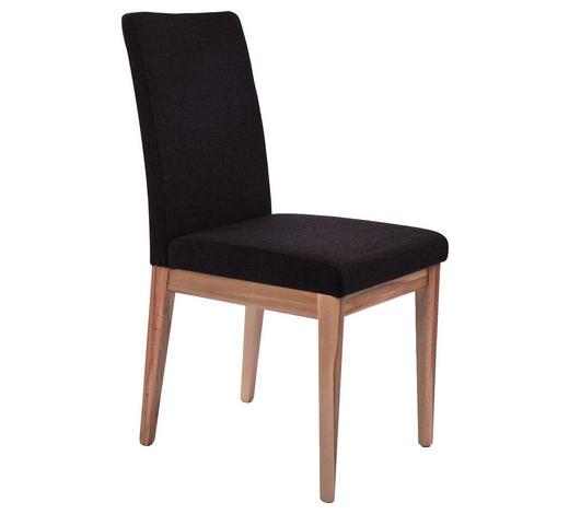 STUHL in Holz, Textil Braun, Buchefarben - Buchefarben/Braun, MODERN, Holz/Textil (45/92/58cm) - Venda