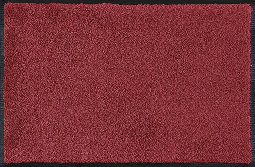 FUßMATTE 50/75 cm Uni Dunkelrot - Dunkelrot, Basics, Kunststoff/Textil (50/75cm) - Esposa