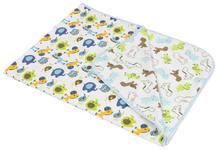 SCHMUSEDECKE 75/100 cm - Blau/Weiß, Textil (75/100cm) - MY BABY LOU