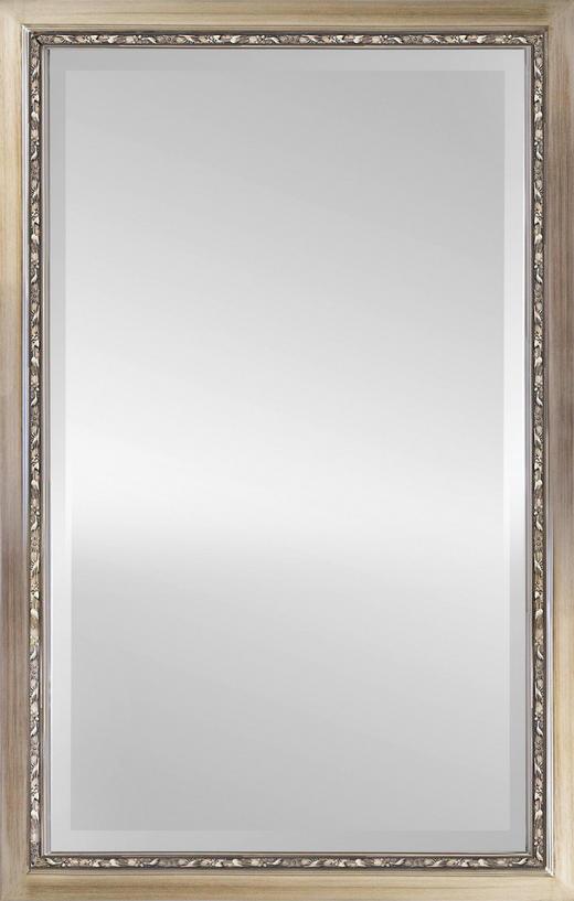 WANDSPIEGEL Silberfarben - Silberfarben, Basics, Glas/Holz (70/110cm)