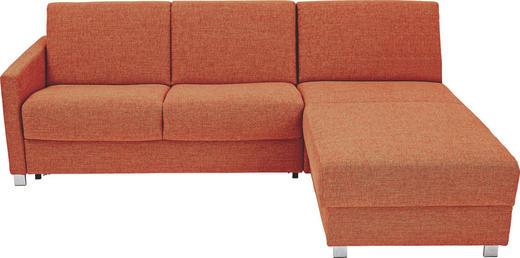 WOHNLANDSCHAFT - Chromfarben/Rot, KONVENTIONELL, Textil/Metall (236/84/100 (183)cm)
