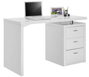 SKRIVBORD - vit/kromfärg, Design, metall/träbaserade material (120/75/55cm) - Xora