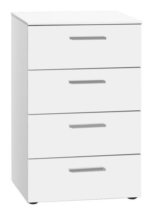 KOMMODE Weiß - Alufarben/Schwarz, Design (50/79/41cm) - Xora