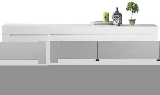 SIDEBOARD Hochglanz, lackiert Weiß - Weiß, Design, Holzwerkstoff (190/84/50cm) - CARRYHOME