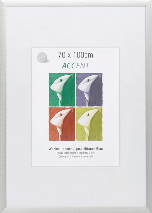 BILDERRAHMEN  Silberfarben - Silberfarben, Basics, Metall (70/100cm)