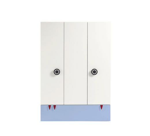 BABYKLEIDERSCHRANK Now! Minimo - Blau/Weiß, Design, Holzwerkstoff (135/192/53,1cm) - Now by Hülsta