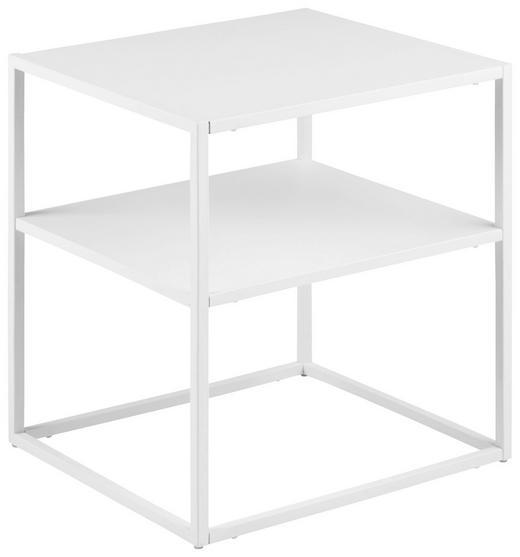 NACHTKÄSTCHEN in Weiß - Weiß, Trend, Metall (45/50,5/40cm) - Carryhome