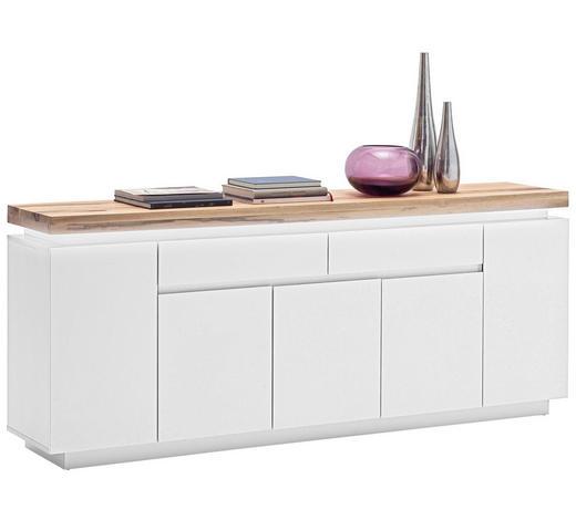SIDEBOARD - Eichefarben/Weiß, Design, Holz/Holzwerkstoff (200/81/40cm)