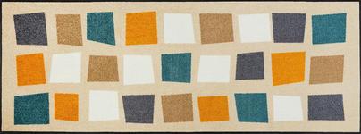 FUßMATTE 75/190 cm Graphik Beige, Multicolor - Beige/Multicolor, Basics, Kunststoff/Textil (75/190cm) - Esposa