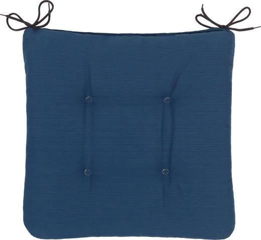 SITZKISSEN - Blau, KONVENTIONELL, Textil (38/38/5cm)