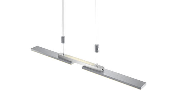 LED-HÄNGELEUCHTE  - Nickelfarben, Basics, Metall (87cm) - Ambiente