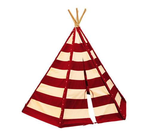 TIPI ZELT LUMO - Beige/Rot, KONVENTIONELL, Textil (200/178/173cm)